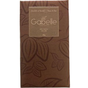 Barra de CHOCOLATE 63% CACAU COM CAFÉ - GABELLE CHOCOLATES