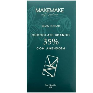 BARRA DE CHOCOLATE BRANCO 35% COM AMENDOIM - MAKE MAKE