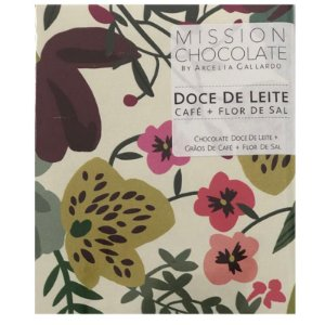 Barra de CHOCOLATE COM DOCE DE LEITE, CAFÉ E FLOR DE SAL – MISSION CHOCOLATES by Arcelia Gallardo