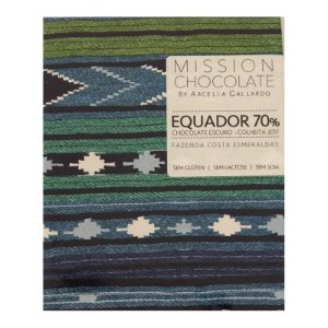 Barra de CHOCOLATE ESCURO DO EQUADOR 70%  – MISSION CHOCOLATES by Arcelia Gallardo