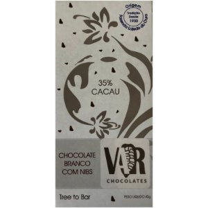 Barra de Chocolate Branco com Nibs 35% Cacau - Var Chocolates