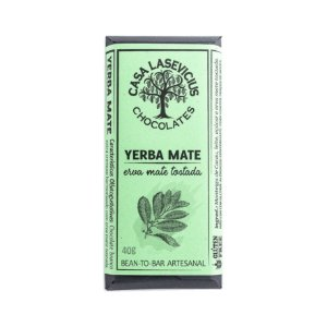 Barra de Chocolate Branco Yerba Mate - Casa Lasevicius Chocolates