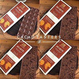 BARRA DE CHOCOLATE AO LEITE 40% CACAU COM CARAMELO QUEIMADO E NIBS DE CACAU - GALLETTE CHOCOLATES