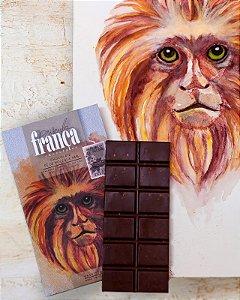 Barra de Chocolate Pé de Moleque 48% Cacau - Priscila França Chocolates