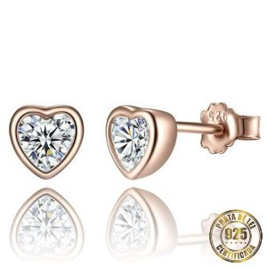 Brincos de Prata Coração e Brilho