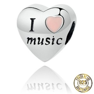 Berloque Coração I Love Music