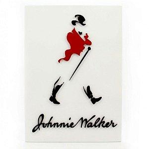 Placa Laqueada em Relevo Johnnie Walker
