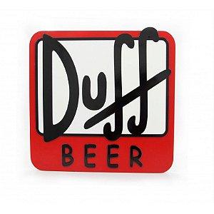 Quadro Laqueado em Relevo Cerveja Duff Beer
