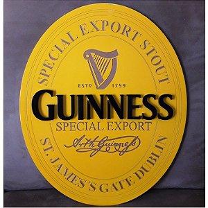 Quadro Laqueado em Relevo Cerveja Guinness