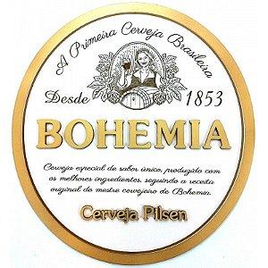 Placa Laqueada em Relevo Cerveja Bohemia