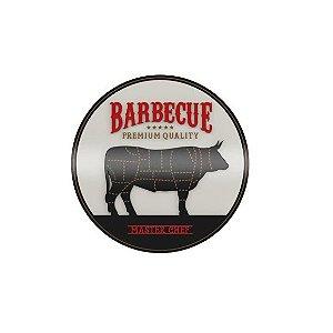 Placa Laqueada Artesanal 3D - Barbecue Premium Quality