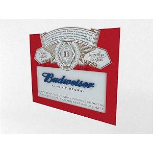 Placa Decorativa Cerveja Budweiser