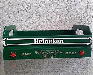 Bandeja Cerveja Heineken Laqueada Mdf 3d