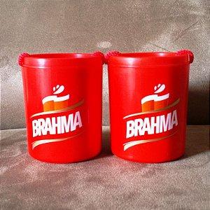 Conjunto 2 Porta Latas com cordão Brahma