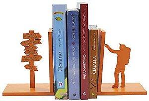 Aparador de Livro Mochileiro Tangerina Laqueado Mdf