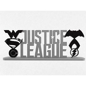 Palavra Decorativa Liga da Justiça