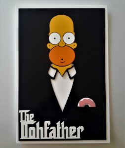 Quadro Decorativo Homer The Dohfather