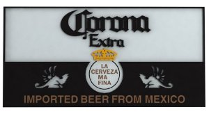 Placa Laqueada Artesanal 3D - Cerveja Corona