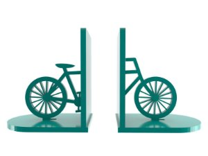 Aparador de Livros Bicicleta Azul Laqueado Mdf