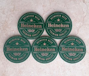 Kit 5 Porta Copos Heineken Mdf Suporte