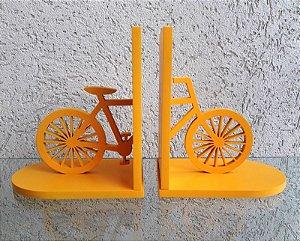 Aparador de Livros Bicicleta Amarelo Laqueado Mdf