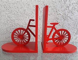 Aparador de Livros Bicicleta Vermelho Laqueado Mdf