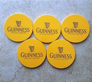 Kit 5 Porta Copos com Suporte Cerveja Guinness