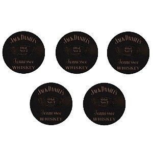 Kit 5 Porta Copos com Suporte Jack Daniels