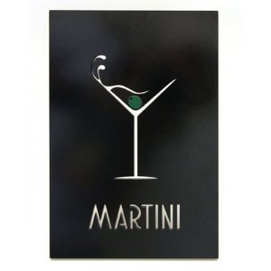 Quadro Laqueado Drink Martini