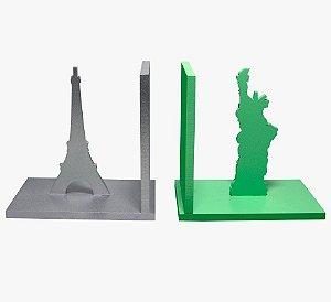Aparador de Livro Paris e New York Laqueado Mdf
