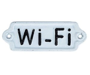 Placa de Ferro Decorativa Wi-fi