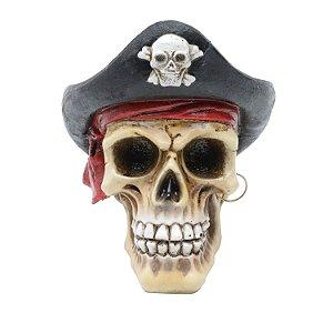 Mini Crânio Caveira Resina Pirata
