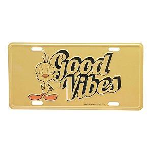 Placa Alumínio Relevo Piu Piu Good Vibes