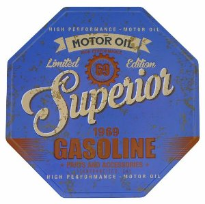 Placa Superior Gasoline Vintage Metal