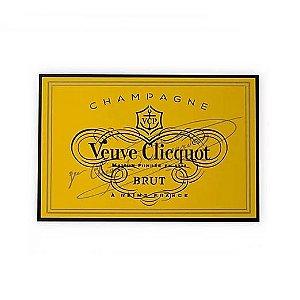 Placa Veuve Clicquot Laqueada Mdf 3D