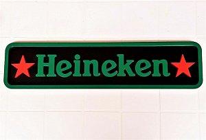 Placa Heineken Pintura Laca Mdf Retangular 3D