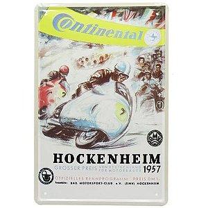 Placa de Metal Continental Hockenheim