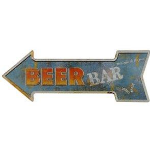Placa Beer Bar Metal Alto Relevo