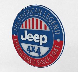 Placa Jeep Laqueada 3D Mdf