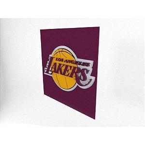 Placa Los Angeles Lakers NBA Laqueada 3D