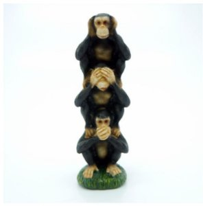 Enfeite Macacos Resina Vertical