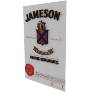 Placa Whisky Jameson Laqueada 3D Mdf