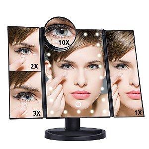 Espelho Camarim 22Leds Maquiagem Portátil