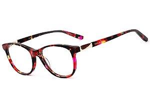 Oculos Armação de Grau Feminino Original Kallblack AF6354 Vermelho