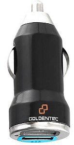 Carregador Veicular com 2 Entradas USB Goldentec CAG01