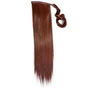 Aplique de cabelo Rabo de Cavalo Hairdo 46cm Cobre Escuro