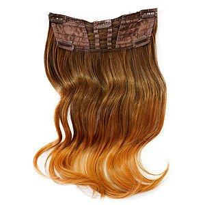 Aplique De Cabelo Ombre Extension Hairdo 40cm Avelã