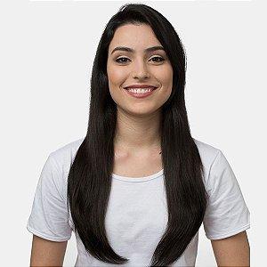 Aplique Liso Longo Hairdo 63cm Castanho Super Escuro