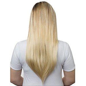 Aplique Liso Longo Tic Tac Hairdo 63cm Louro Sueco