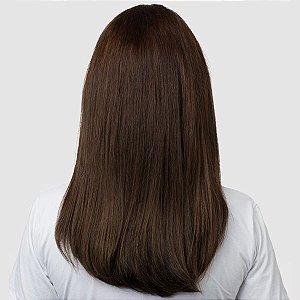 Aplique Liso Médio Hairdo 48cm Chocolate